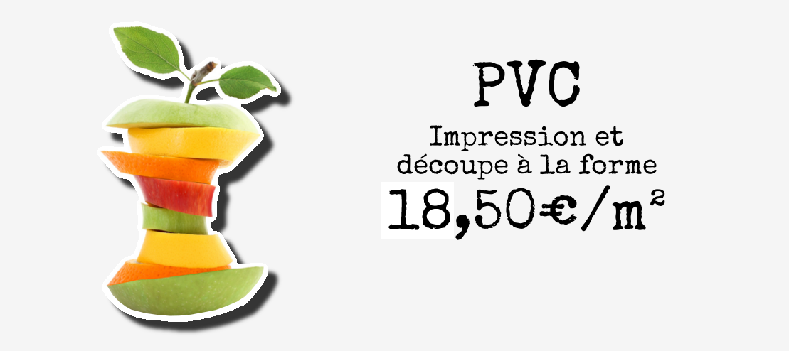 Impression et découpe PVC